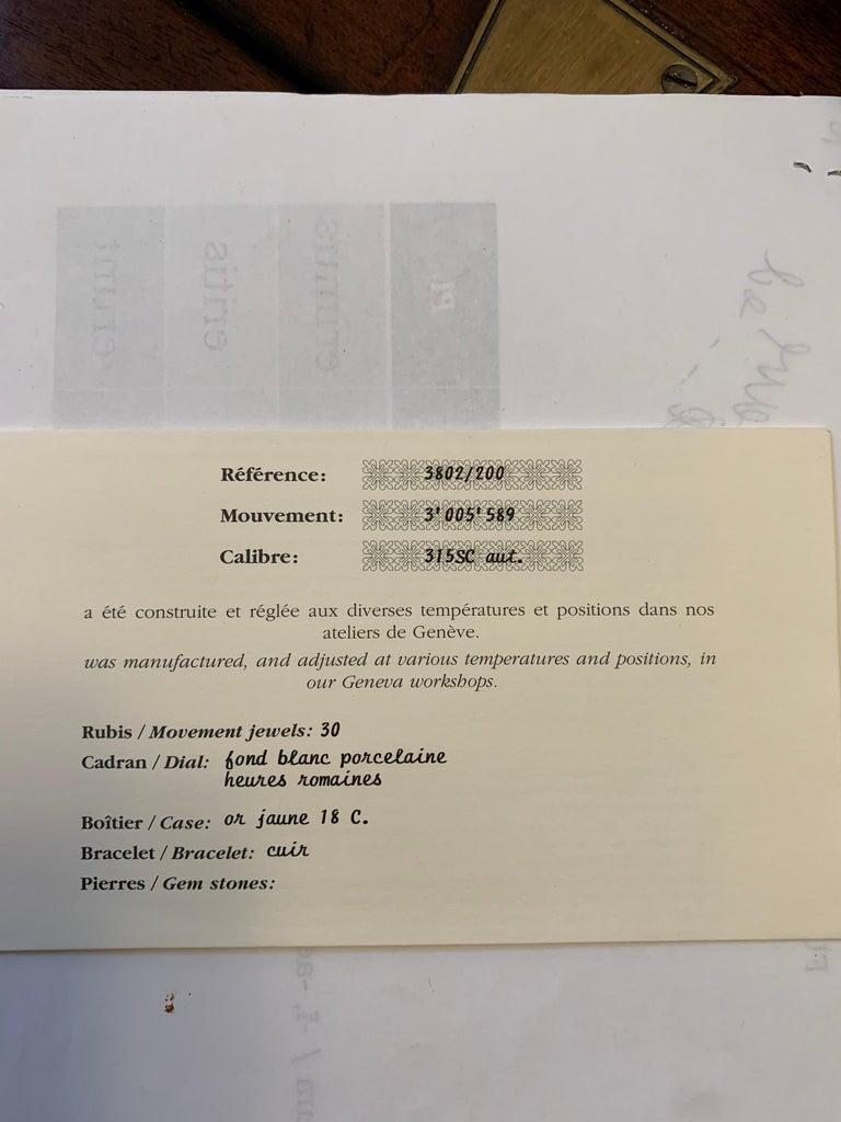 Patek Philippe Calatrava 3802, 18 Karat Gold, White Dial For Sale 1
