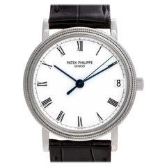 Patek Philippe Calatrava 3802/200 18 Karat White Gold White Dial Automatic Watch