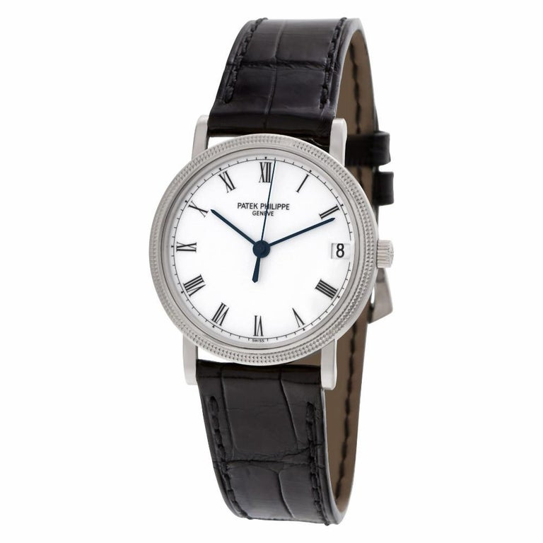 Contemporary Patek Philippe Calatrava 3802/200G-001, White Dial, Certified &