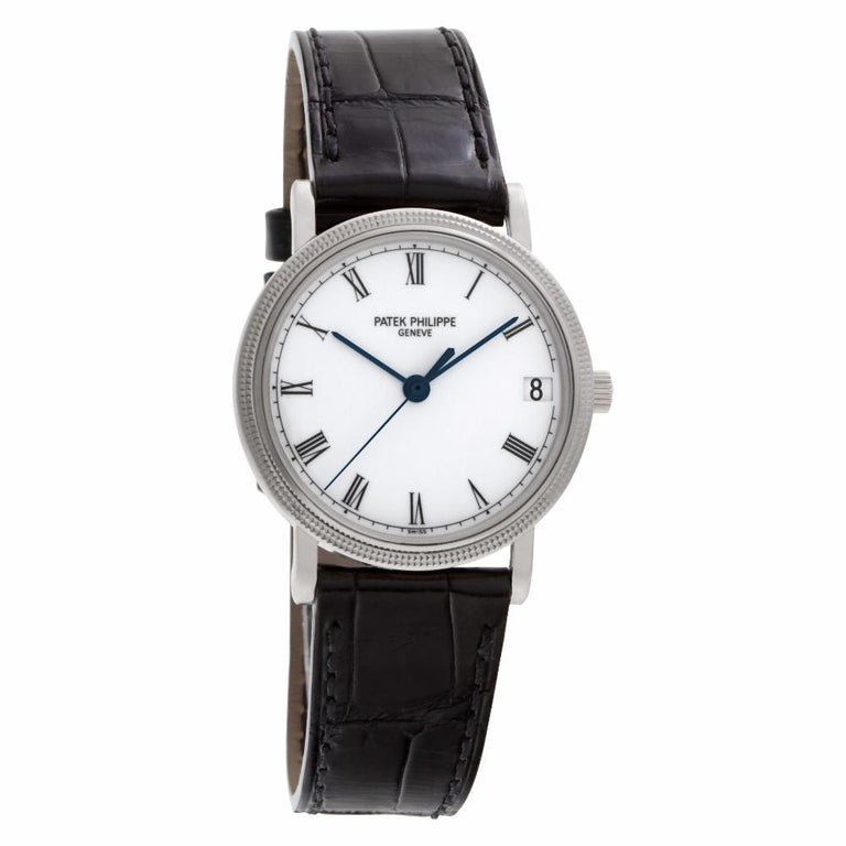 Men's Patek Philippe Calatrava 3802/200G-001, White Dial, Certified &
