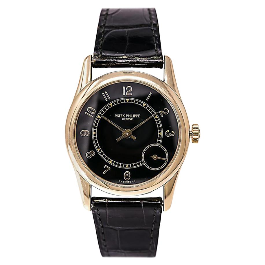 Patek Philippe Calatrava 5000J, Black Dial, Certified and Warranty