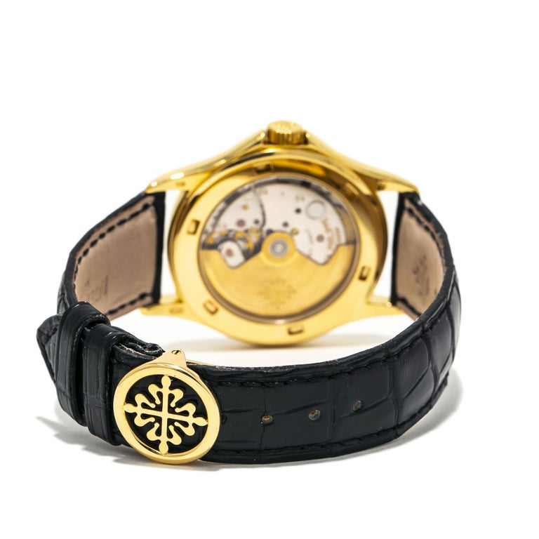 Contemporary Patek Philippe Calatrava 5107J, Gold Dial, Certified and Warranty For Sale