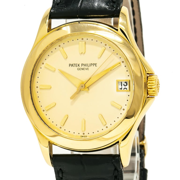 Patek Philippe Calatrava 5107J, Gold Dial, Certified and Warranty For Sale 1