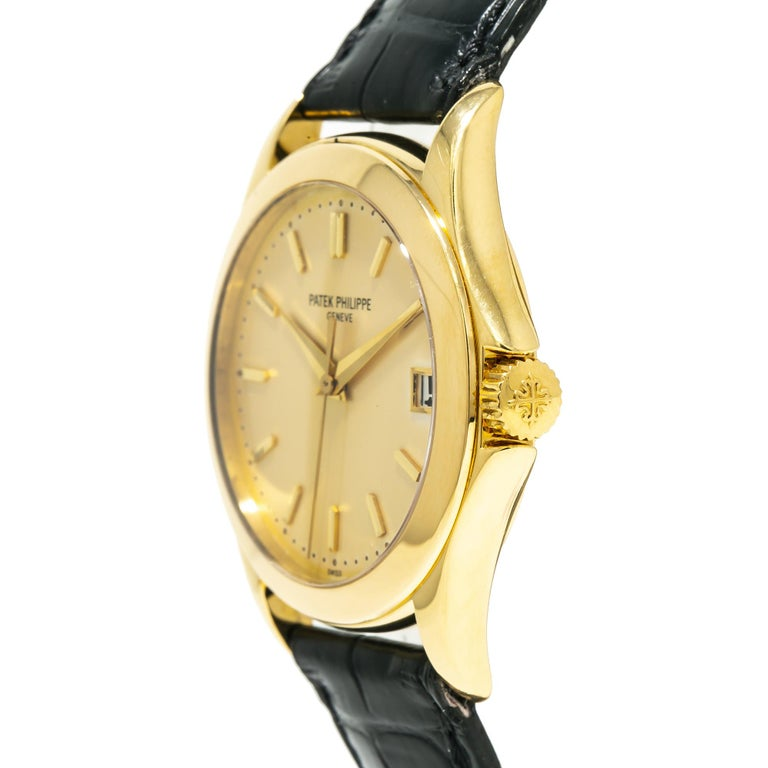 Patek Philippe Calatrava 5107J, Gold Dial, Certified and Warranty For Sale 2