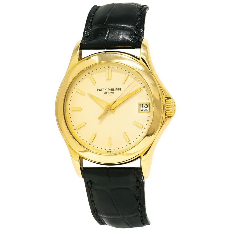 Patek Philippe Calatrava 5107J, Gold Dial, Certified and Warranty For Sale