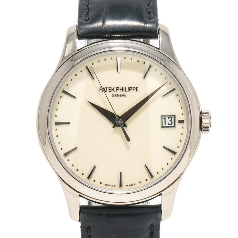 Patek Philippe Calatrava 5227G, Off-White Dial, Certified For Sale 1