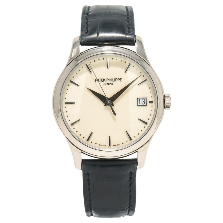 Patek Philippe Calatrava 5227G, Off-White Dial, Certified For Sale