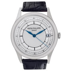 Patek Philippe Calatrava 5296 18 Karat White Gold Silver Dial Automatic Watch