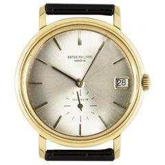Patek Philippe Calatrava Double Name Gubelin Yellow Gold 3445 Watch