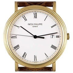 Patek Philippe Calatrava Gents 18k Yellow Gold White Porcelaine Dial 3944J-001