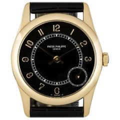 Patek Philippe Calatrava Gents Yellow Gold Black Dial 5000J Automatic Watch
