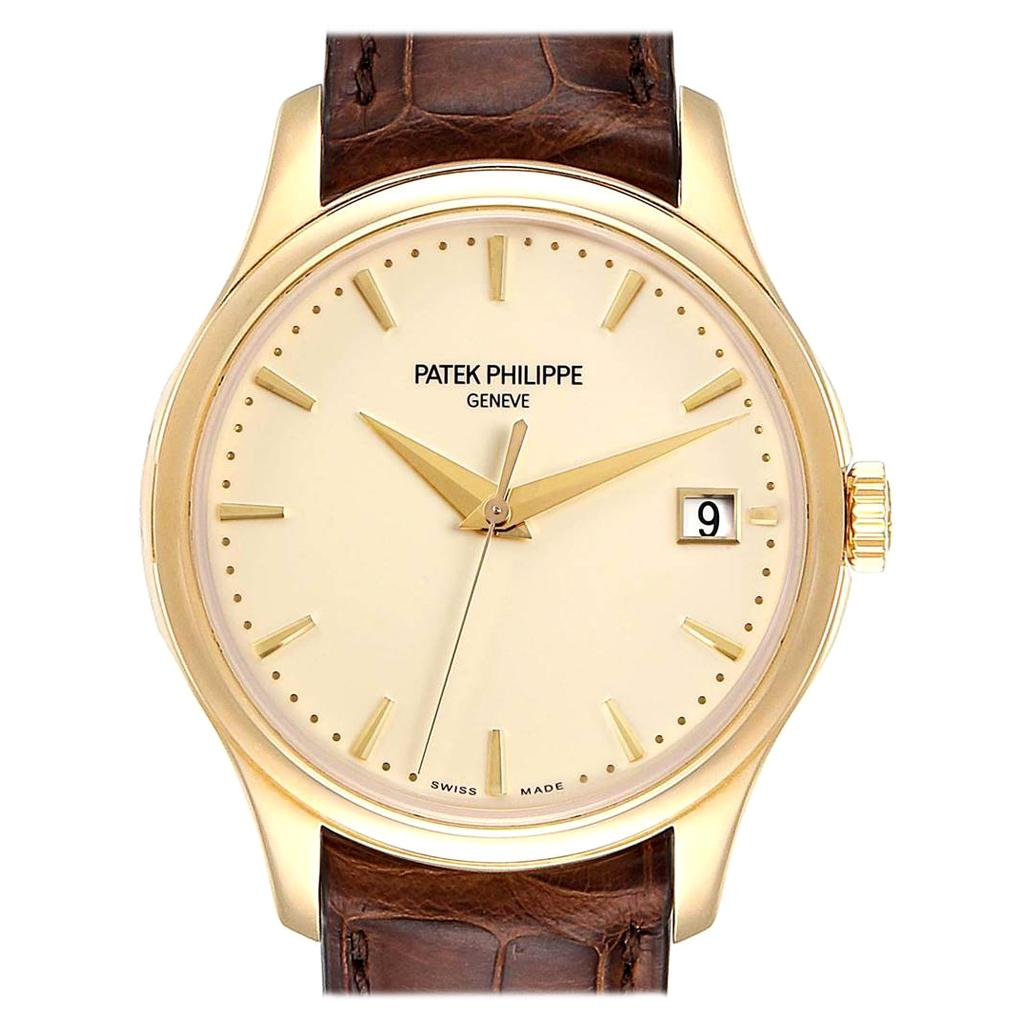 Patek Philippe Calatrava Hunter Case Yellow Gold Automatic Men's Watch 5227