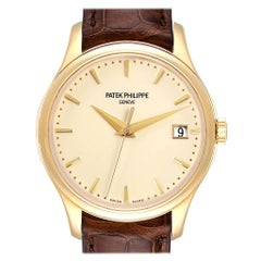 Patek Philippe Calatrava Hunter Case Yellow Gold Automatic Men's Watch 5227