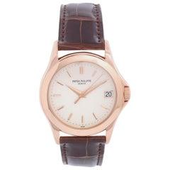 Patek Philippe Calatrava Men's 18 Karat Rose Gold Watch 315/190