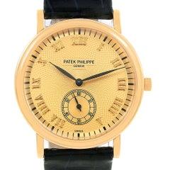Patek Philippe Calatrava Officier Yellow Gold Manual Wind Watch 5022