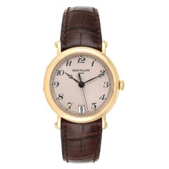 Patek Philippe Calatrava Officier Yellow Gold Men's Watch 5053 Papers