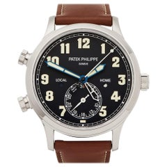Patek Philippe Calatrava Pilot Travel Time 18 Karat White Gold 5524G-001