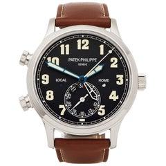 Patek Philippe Calatrava Pilot Travel Time 5524G-001 Men's White Gold Watch