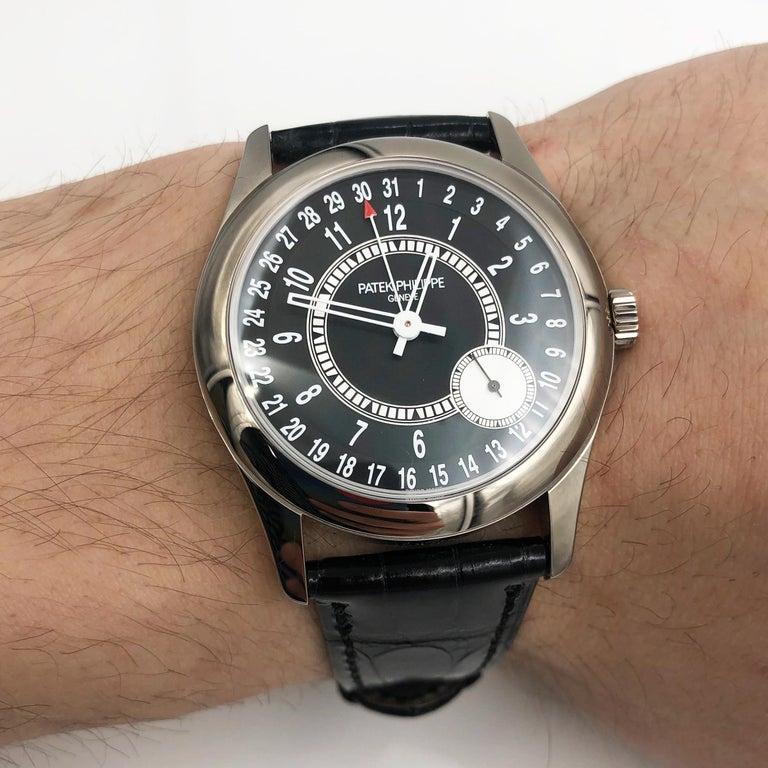 Men's Patek Philippe Calatrava Pointer Date White Gold Automatic Men's Watch 6006G-001
