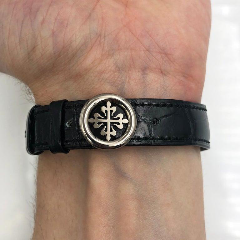 Patek Philippe Calatrava Pointer Date White Gold Automatic Men's Watch 6006G-001 1