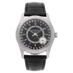 Patek Philippe Calatrava Pointer Date White Gold Automatic Mens Watch 6006G-001