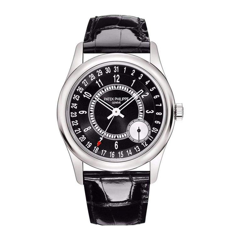 Patek Philippe Calatrava Pointer Date White Gold Automatic Men's Watch 6006G-001