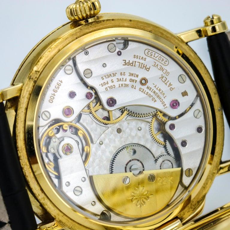 Patek Philippe Calatrava Power Reserve Moon Phase 5015J 18Kt Gold Men's Watch For Sale 6