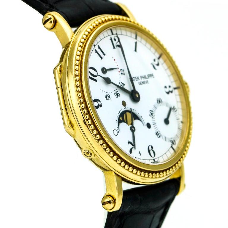 Patek Philippe Calatrava Power Reserve Moon Phase 5015J 18Kt Gold Men's Watch For Sale 1