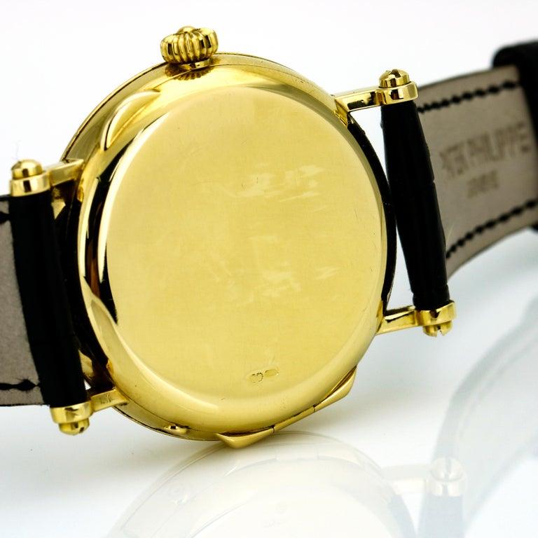 Patek Philippe Calatrava Power Reserve Moon Phase 5015J 18Kt Gold Men's Watch For Sale 5