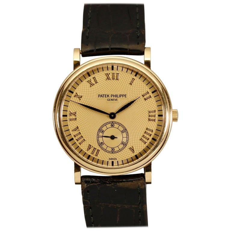 Patek Philippe Calatrava Ref 5022J-001 18 Karat Yellow Gold, Modern For Sale