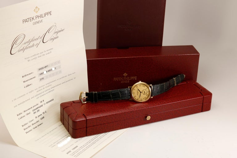 Patek Philippe Calatrava Ref 5022J-001 18 Karat Yellow Gold, Modern In Good Condition For Sale In Miami Beach, FL