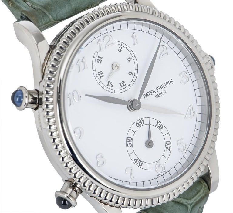Women's Patek Philippe Calatrava Travel Time Watch 4864G For Sale