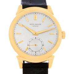 Patek Philippe Calatrava Vintage 18 Karat Yellow Gold Scroll Lugs Watch 1491