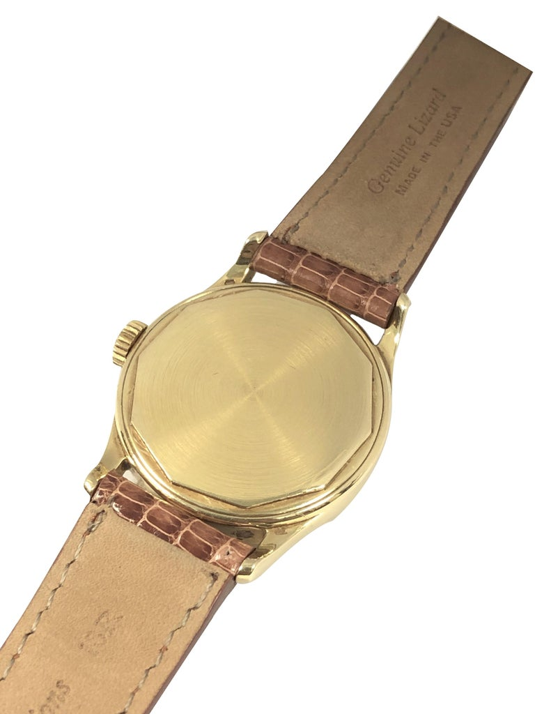 Patek Philippe Calatrava Vintage Ref 2545 Yellow Gold Mechanical Wristwatch For Sale 2