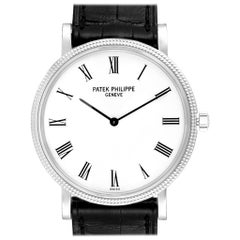 Patek Philippe Calatrava White Gold Automatic Men's Watch 5120 Box Papers