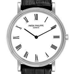 Patek Philippe Calatrava White Gold Automatic Mens Watch 5120 Box Papers