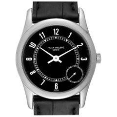 Patek Philippe Calatrava White Gold Black Dial Automatic Men's Watch 5000