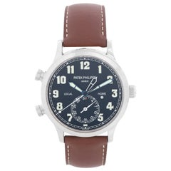 Patek Philippe Calatrava White Gold Pilot Travel Watch Ref. 5524 G