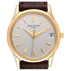 Patek Philippe Calatrava Yellow Gold Automatic Mens Watch 3998 Box Papers