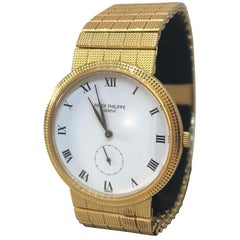 Patek Philippe Calatrava Yellow Gold Mechanical Men's Bracelet Watch 3919/10