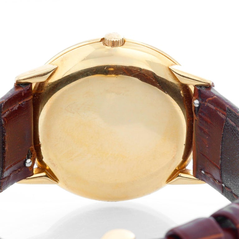 Patek Philippe Calatrava Yellow Gold Men's Watch For Sale 1
