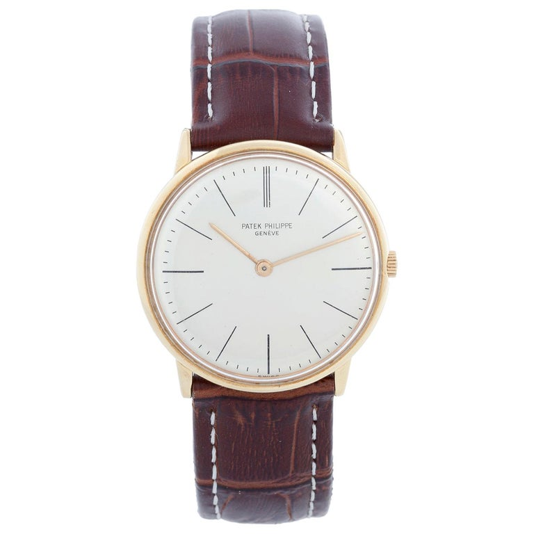 Patek Philippe Calatrava Yellow Gold Men's Watch For Sale