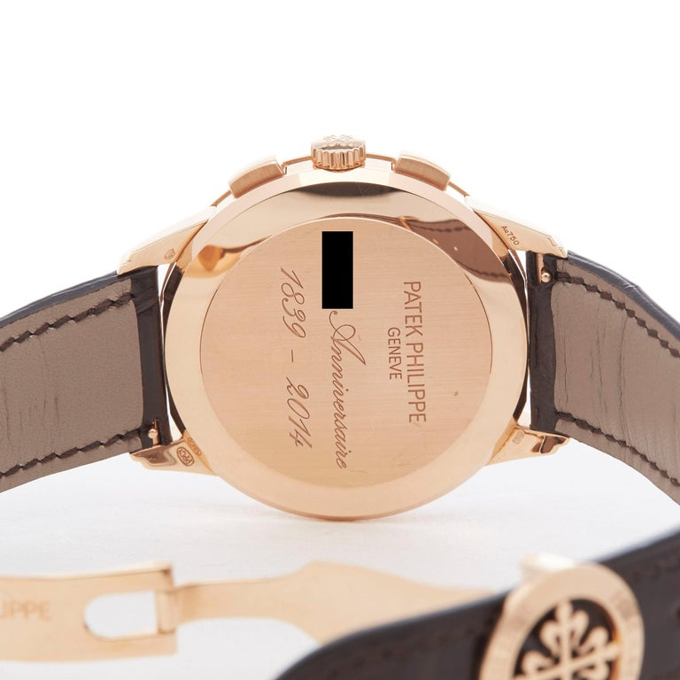 Patek Philippe Chronograph 175th Anniversary 5975R-001 Owned By Eric Clapton For Sale 2