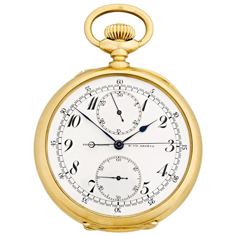 Patek Philippe Chronograph Pocket Watch For Sale