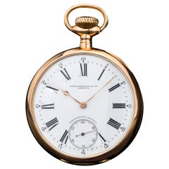 Patek Philippe 'Chronometro Gondolo' 18kt Gold Manual Winding Pocket Watch 1905