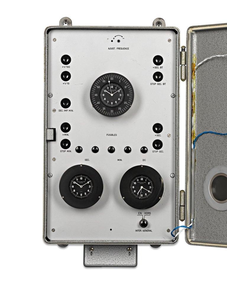 Industrial Patek Philippe Chronoquartz Electronic Wall Clock For Sale