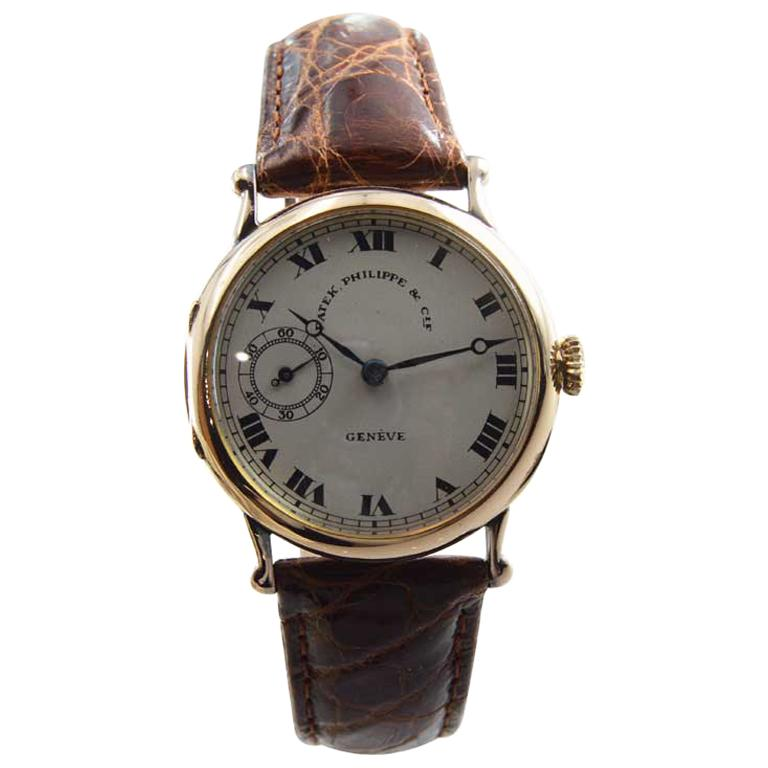 Patek Philippe & Cie. 18 Karat, Yellow Gold Pendant Wristwatch, circa 1910 For Sale