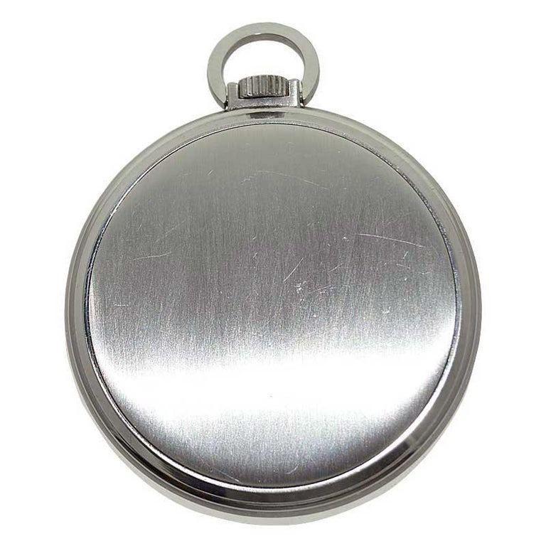 Patek Philippe & Cie. Steel Art Deco Open Faced Pocket Watch, circa 1940s For Sale 6