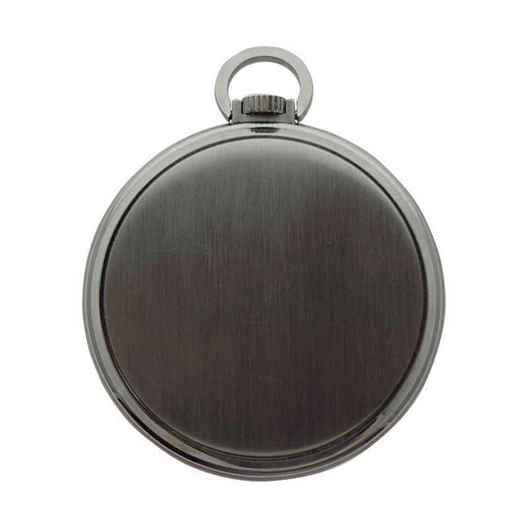 Patek Philippe & Cie. Steel Art Deco Open Faced Pocket Watch, circa 1940s For Sale 7