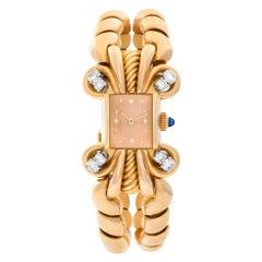 Patek Philippe Classic 8874 18k Rose Gold Pink Dial Manual Watch